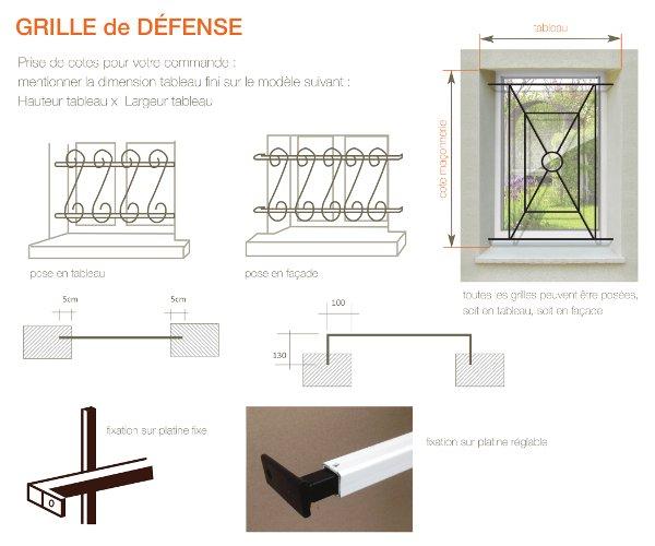 Ferronerrie serpug fabrication standard sur mesure for Pose grille de defense